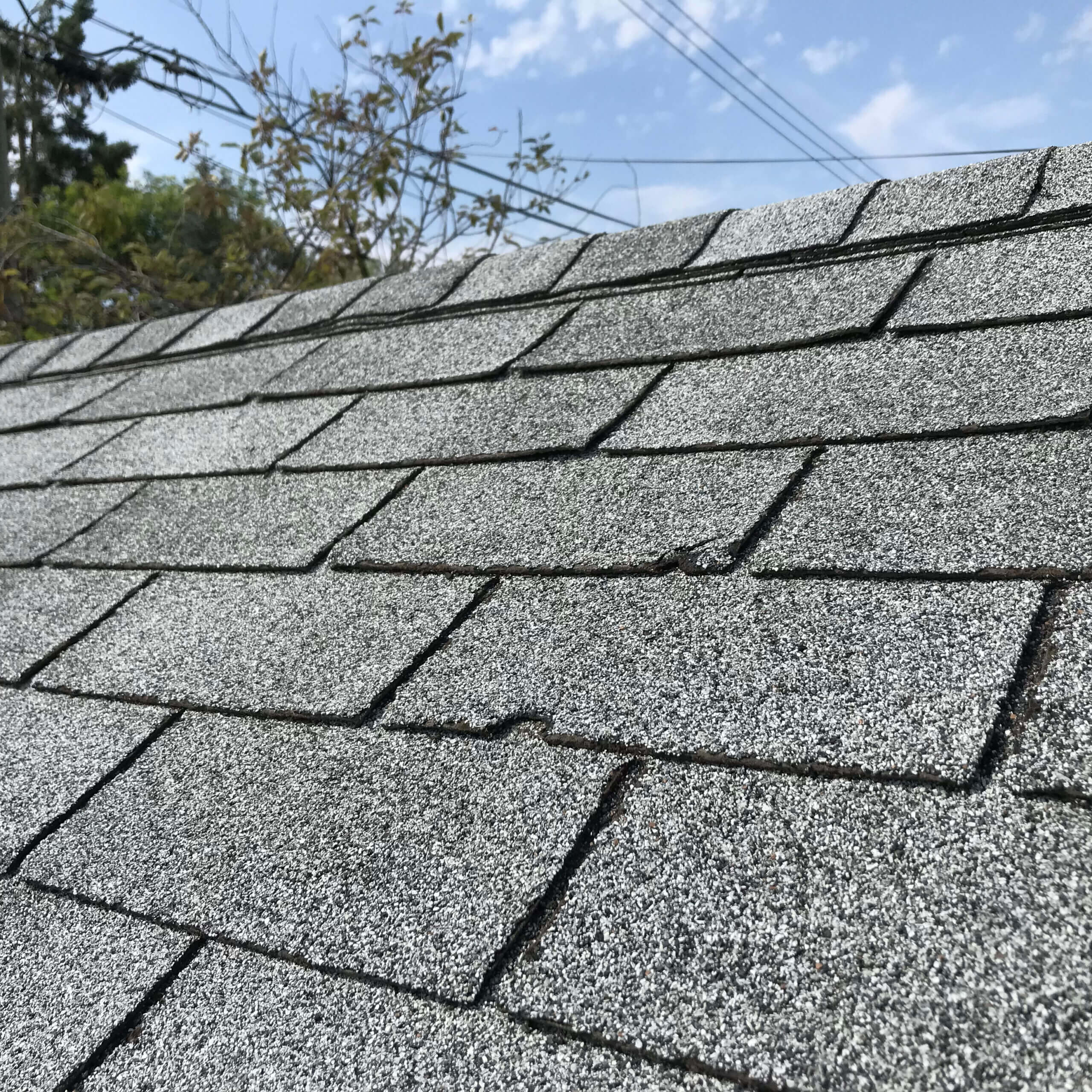 Roof Showing Hail Damage Inspection
